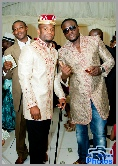 Igbo groom and his best man in their fine gold jackets