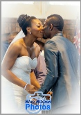 The bride & Groom's fist kiss at the alter during a tradittional Igbo wedding